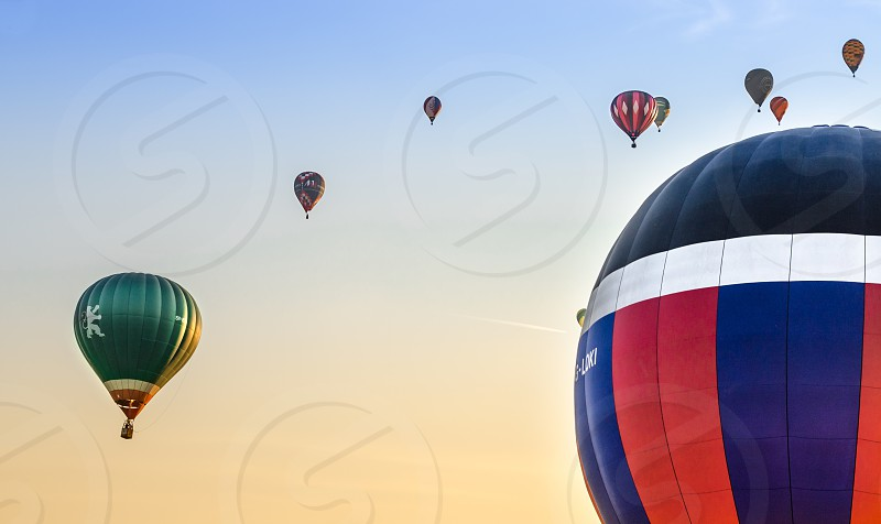 Hot air balloons over Debrecen Hungary photo