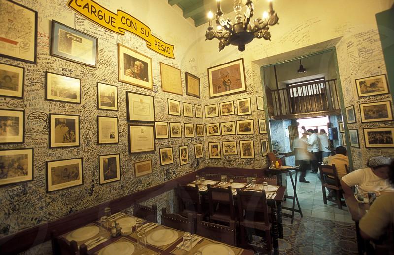 the Bar La Bodeguita del medio in the city of Havana on Cuba in the caribbean sea. photo