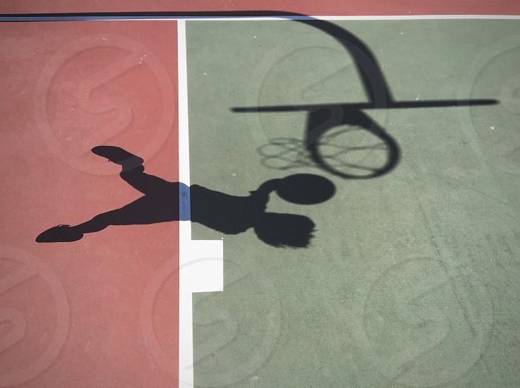 Basketball shadow.  photo
