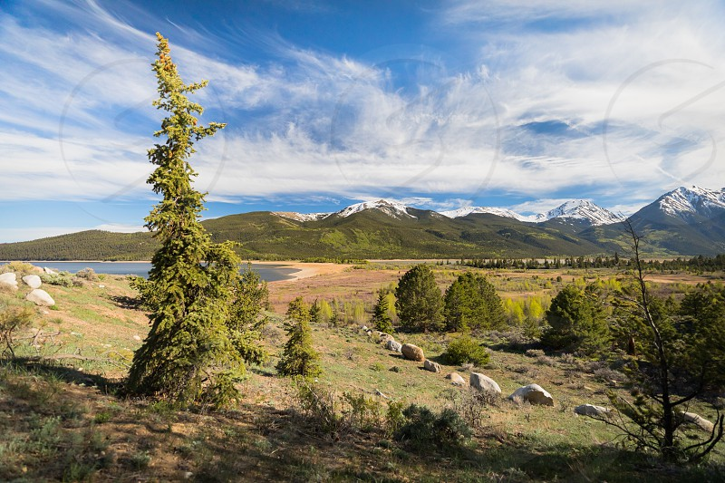 Beautiful landscape scenery at Twin Lakes Colorado photo