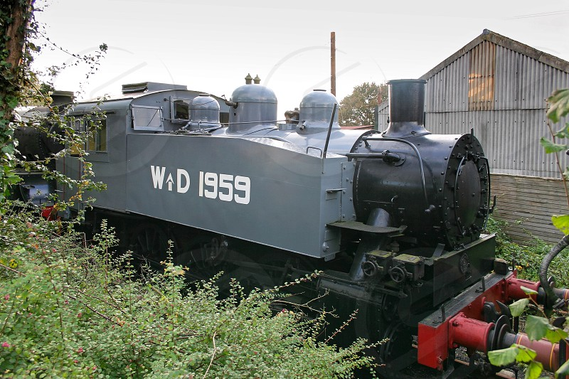 SHEFFIELD PARK EAST SUSSEX/UK - OCTOBER 26 : United States Army Transportation Corps S100 Class steam locomotive originally purchased and adapted by the Southern Railway at Sheffield Park Station East Sussex on October 26 2004 photo