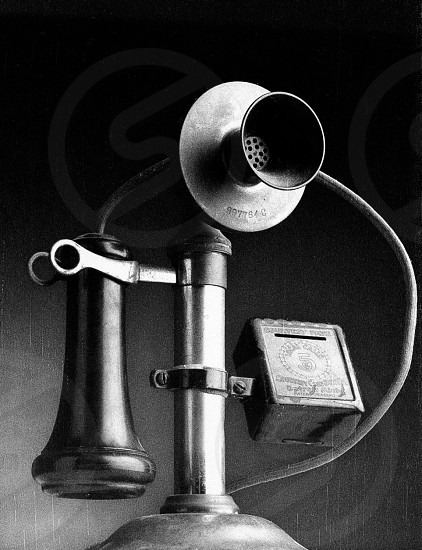 vintage black telephone set photo