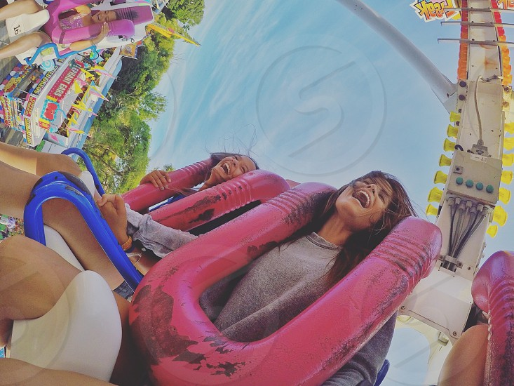 #rollercoaster #pink #bluesky #fun #family #photography photo
