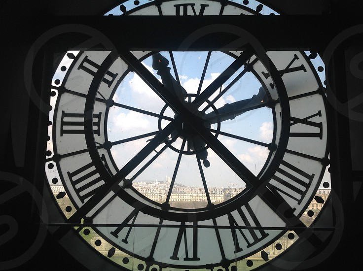 Paris clock photo