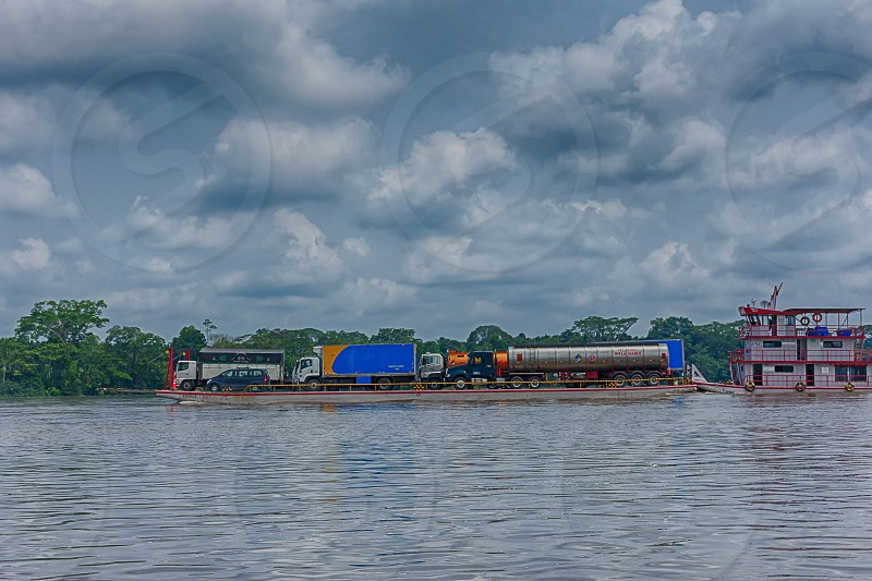 River Ferry Barge photo