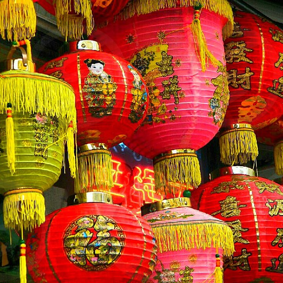 Chinese Lanterns in NYC Chinatown. photo