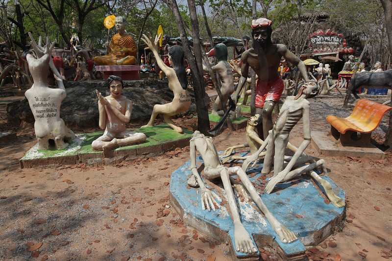 a fantasy Ghost Park near the city of Khorat or Nakhon Ratchasima in the Region of Isan in Northeast Thailand in Thailand. photo