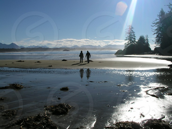 beach walk Victoria BC Canada photo