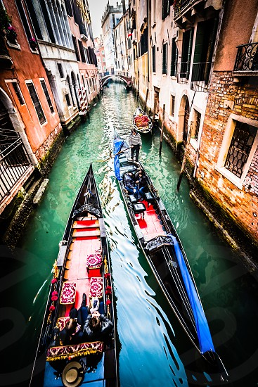 Gondolas of Venice Italy. photo