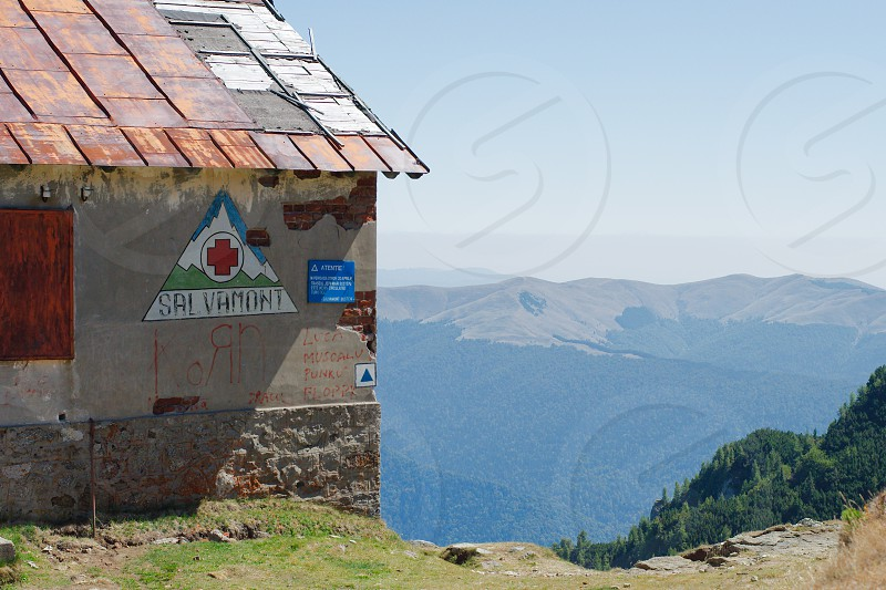 Rescue point on Bucegi mountains Romania photo