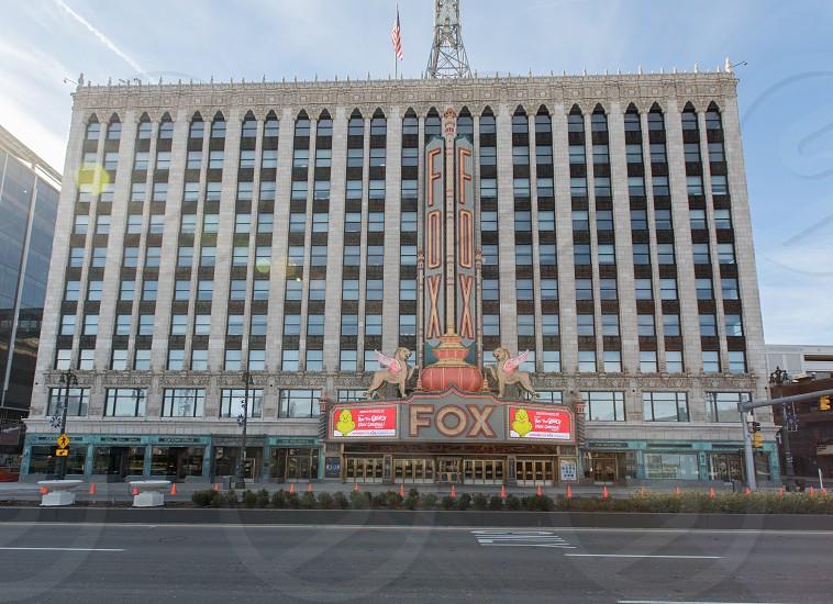 The historic Fox Theatre in Detroit Michigan photo