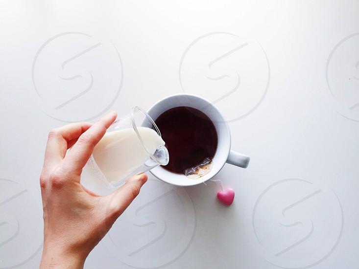 Tea milk breakfast dairy morning photo