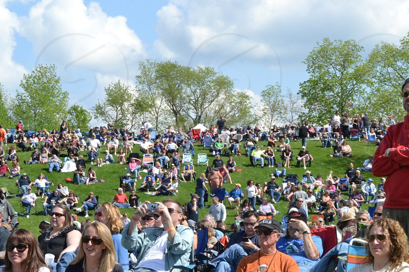 Crowd at The Bourbon Street Blues Festival in Pittstown NJ photo