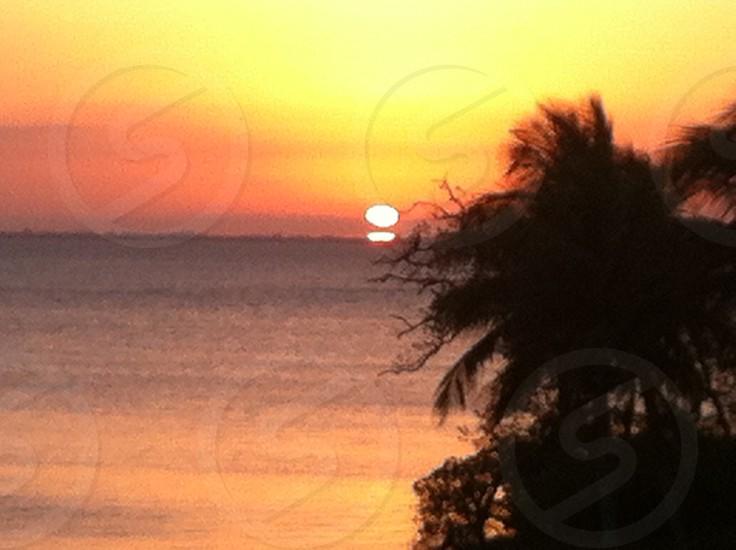sunset sea view photo