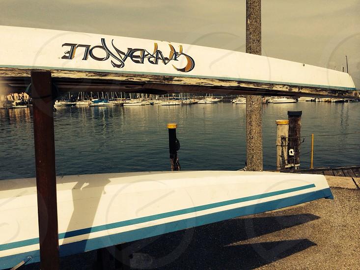 small boat in Desenzano 's port photo