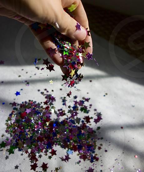 star glitter photo