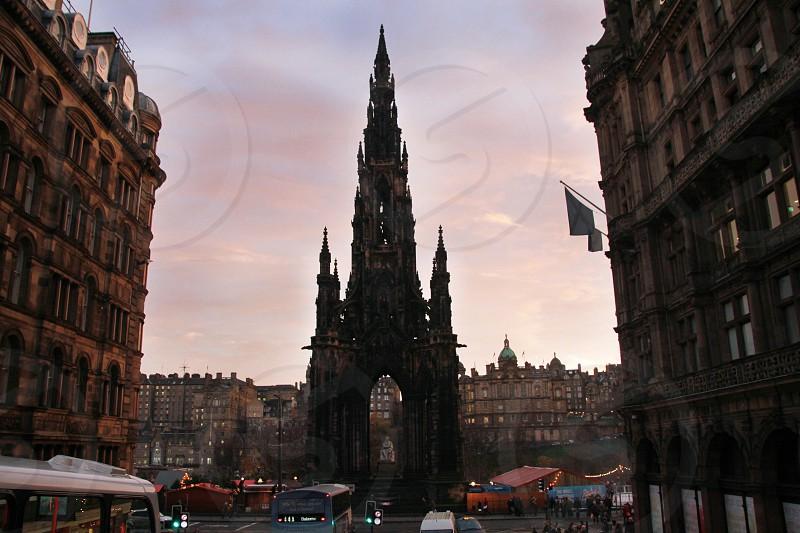 Edinburgh Scotland Scott Monument photo