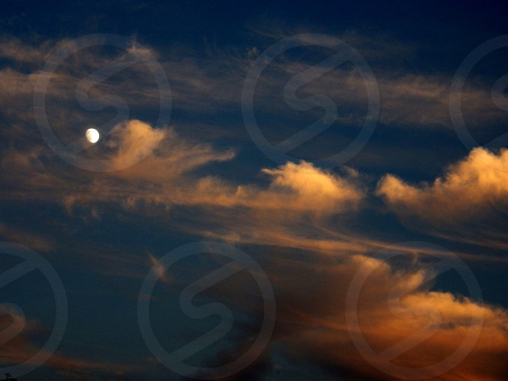 """There's a moon in the sky it's called """"The Moon.""""  photo"""