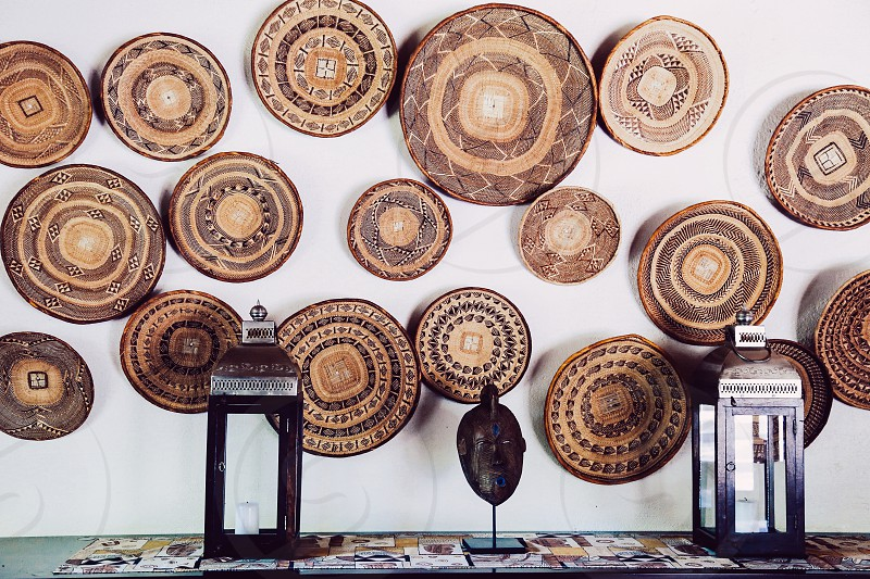 Circles art craft creativity African  crafted handmade wall ornament nature material  handcrafted  photo