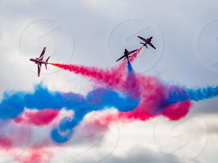 Red Arrows display team 50th anniversary at Biggin Hill airport photo