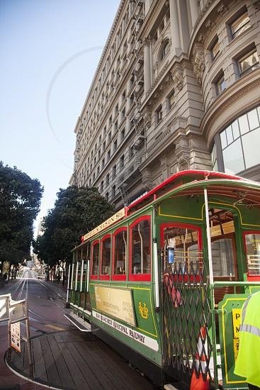 Trolley in San Francisco California photo