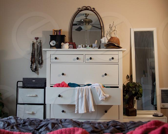white dresser photo