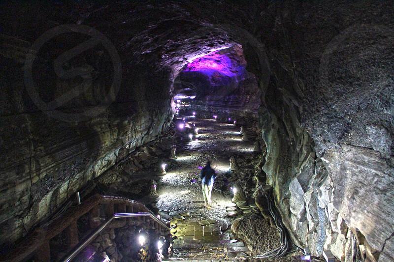 Manjanggul cave a World Heritage site in the outskirts of Jeju city Jeju island South Korea Asia. photo