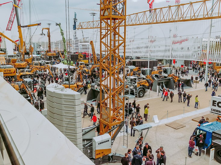 exhibition tower cranes industry photo