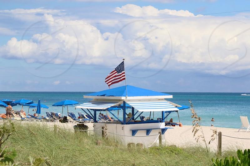 Fourth of July party festival trip south beach Miami journey beach ocean photo