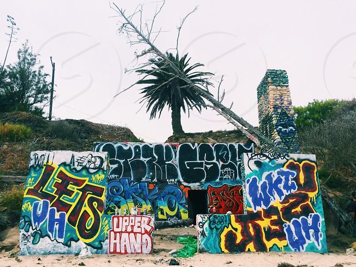 #graffiti #beach #santabarbara #california photo