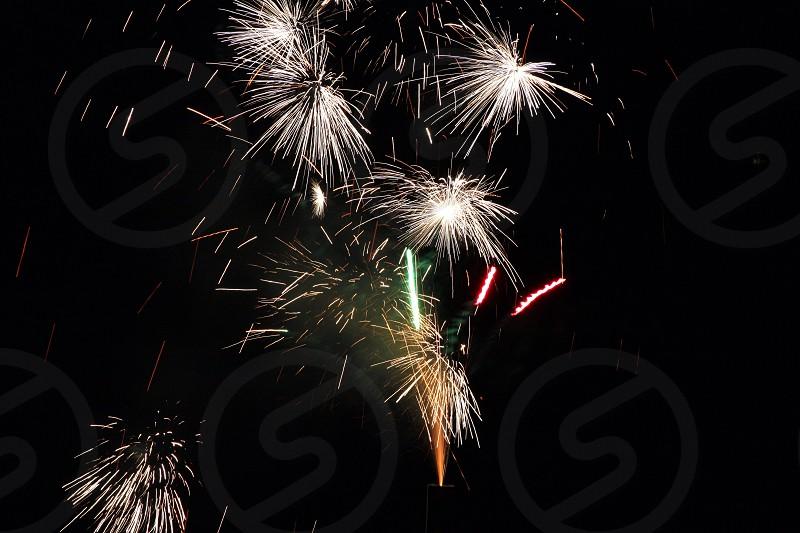 Fireworks in sky photo