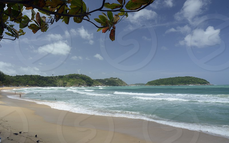 the Hat Kata Yai Beach near Rawai in the south on the Phuket Island in the south of Thailand in Southeastasia.