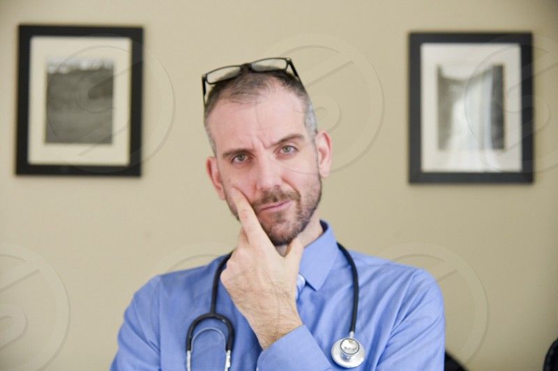 Doctor concerned web call photo