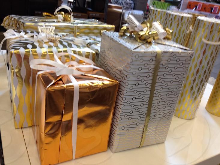 Present presents bows ribbons boxes elegant photo