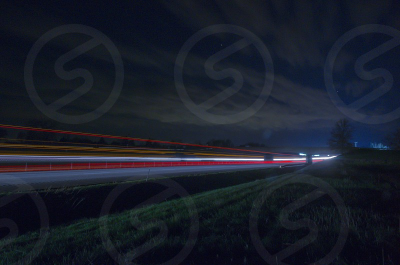 Overpass at night photo