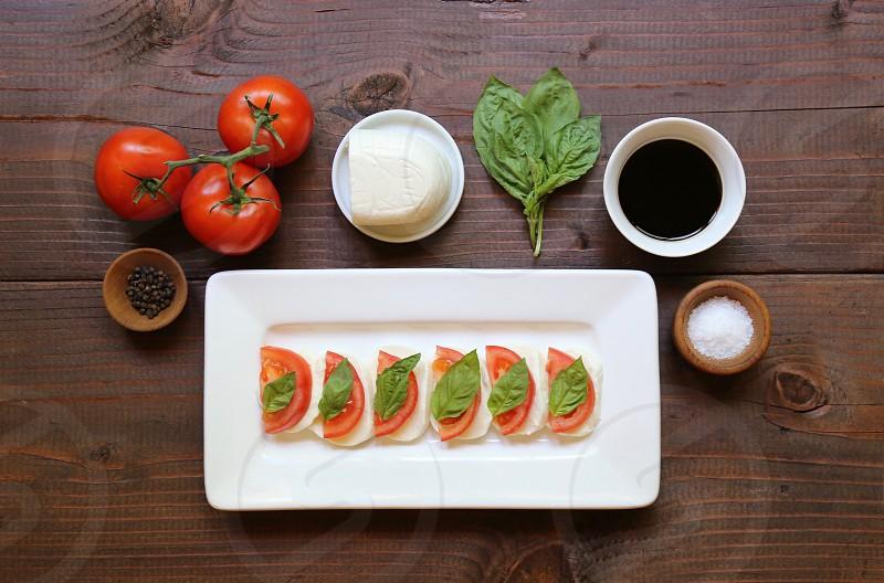 Mozzarella Tomato and Basil photo