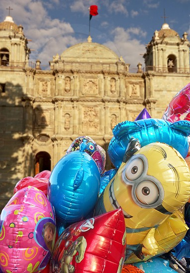 Balloons Church Mexico photo