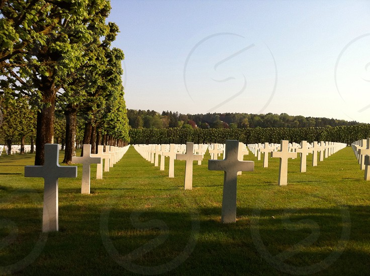 American military cemetery photo