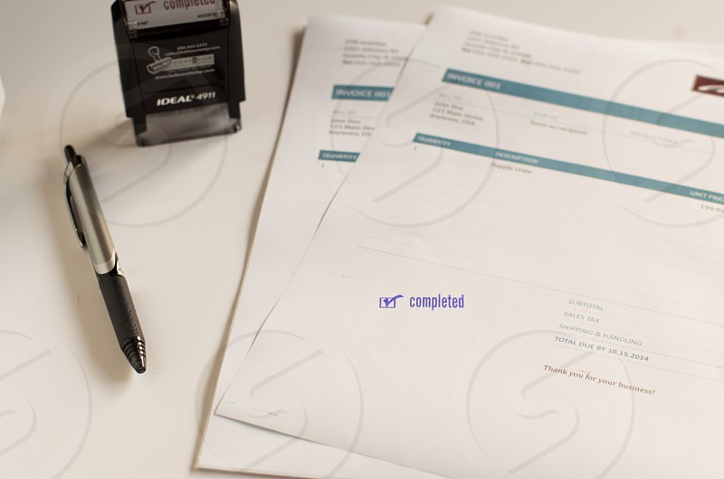 office supplies invoices business paid invoice bills photo