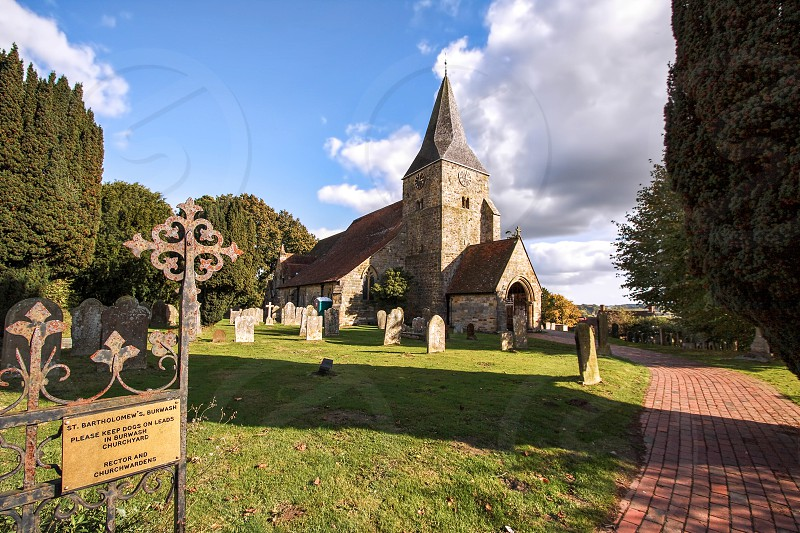 View of Burwash Church photo