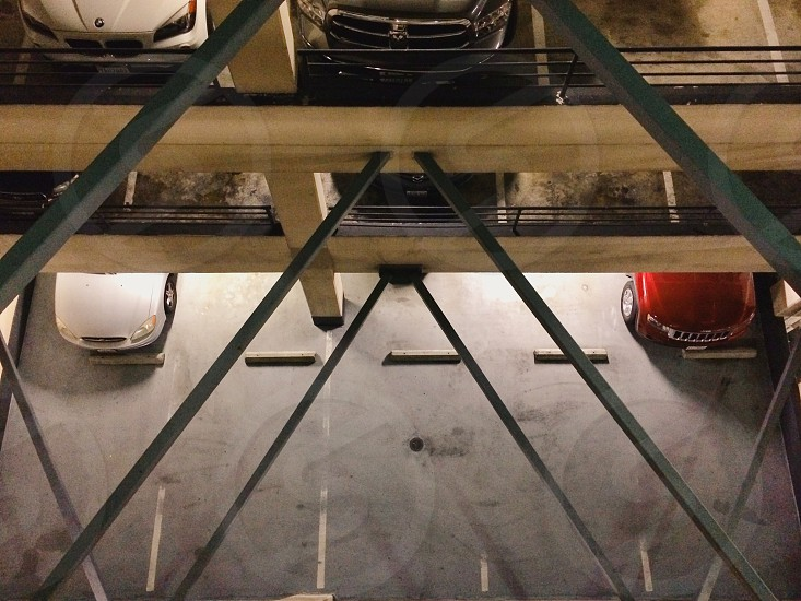 cars on parking lot photo