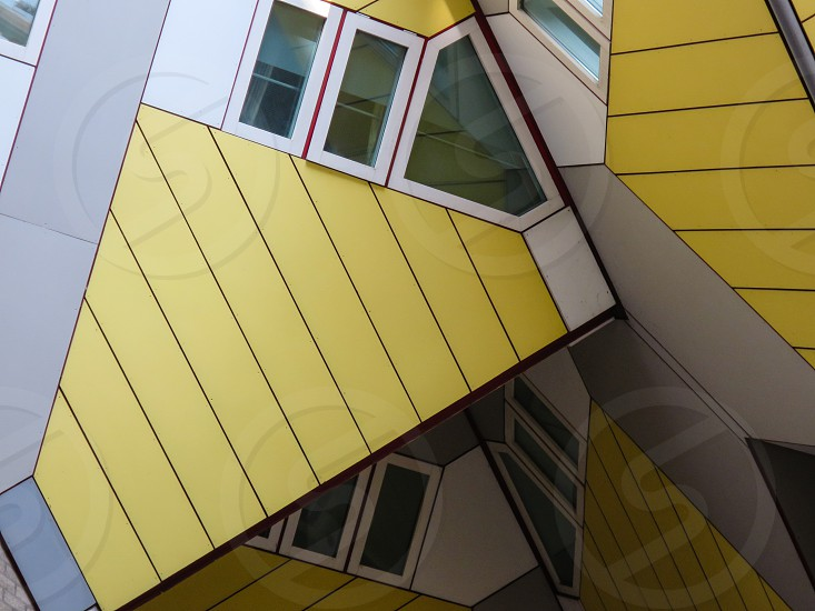 Cube House Building Rotterdam Piet Blom Abstract Architecture Kubuswoningen photo