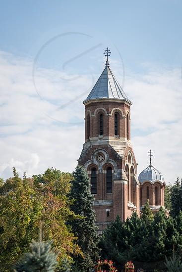 CURTEA DE ARGES WALLACHIA/ROMANIA - SEPTEMBER 16 : Exterior view of the Church of Christ in Curtea de Arges Wallachia Romania on September 16 2018. photo