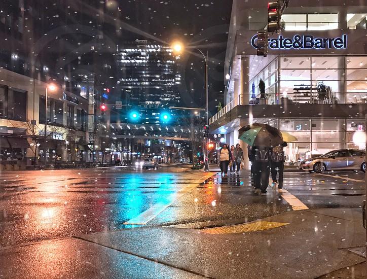 Rainy evening in Seattle Wa. photo