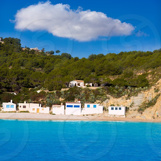 Javea Xabia Playa la Barraca Cala Portichol in Alicante at Mediterranean Spain photo