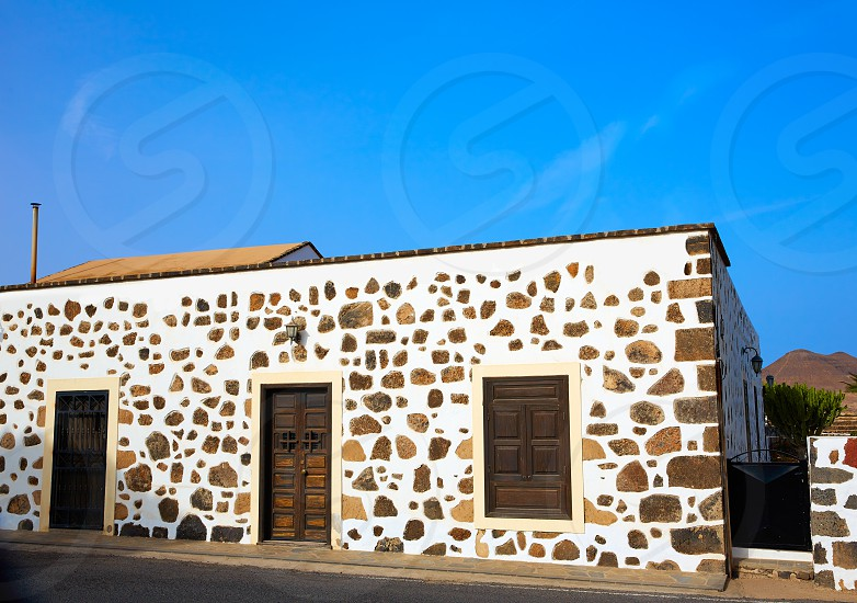 Fuerteventura house in Lajares at Canary Islands of Spain photo