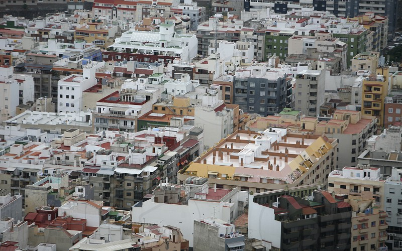 The view of the City of Santa Cruz on the Island of Tenerife on the Islands of Canary Islands of Spain in the Atlantic.   photo