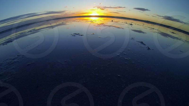 Curve World Salt Lake Sunset Lake Sun GoPro photo