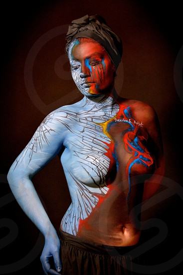 Photo was taken at a live Body painting of our favorite models. photo