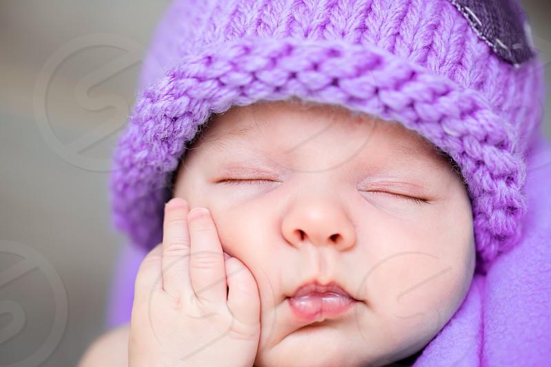 Cute baby infant sleep angel  photo